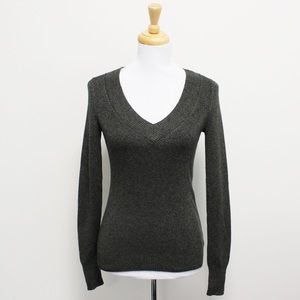 NWT Express Green Black V Neck Sweater Small
